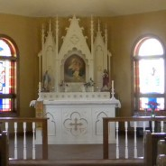 An image of the front altar.